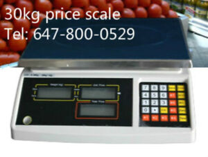30kg/ 66lbs price scale with two sides display
