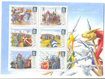 Alderney-Battle of Hastings Min sheet mnh (sept 2016)