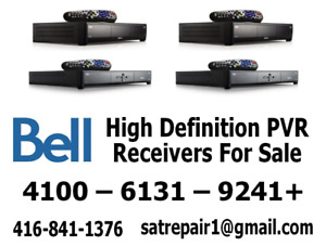 Bell HD PVR Satellite Receivers For Sale 4100 - 6131 - 9241