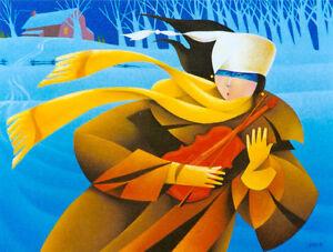 Claude Lafleur LE VIOLON MAGIQUE giclee oeuvre art legende