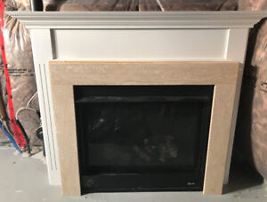 Direct-Vent gas fireplace, wood/stone Mantel & Venting system