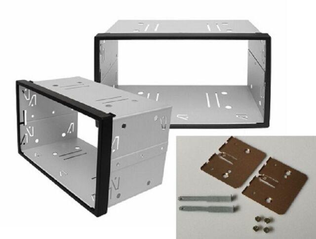 DOPPEL DIN Schacht Metall Rahmen Einbauschacht Radioblende Einbaurahmen