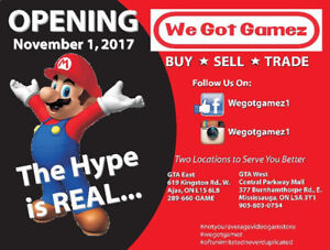 We Got Gamez is Opening a 2nd Store in Mississauga Nov.1st!!!