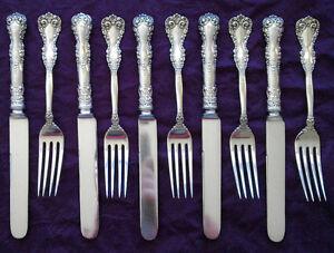 INTERNATIONAL Revere 1898 sterling silver spoon, fork, knife