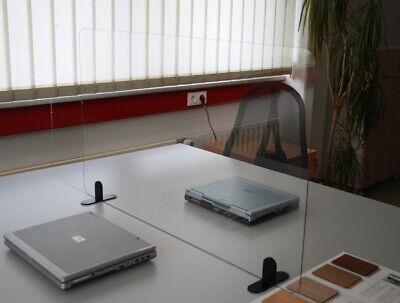 Hygiene-Trennwand Spuckschutz Aufsteller für Theke/Schreibtisch Spuckschutzwand
