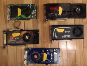 Various Video cards