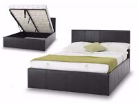 Brand NEW-DOUBLE STORAGE LEATHER BED WITH ROYAL ORTHOPAEDIC MATTRESS SINGLE/KING SIZE AVAILABLE