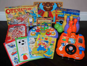 Preschool Toys: Melissa & Doug, Home Depot, Playskool, Operation