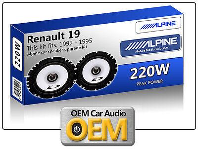 Renault 19 Front Door speakers kit Alpine car speakers 220W Max