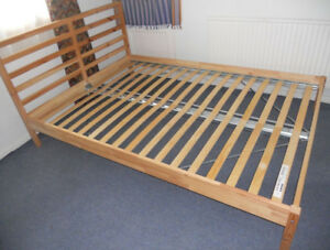 Barely used Double Bed and Mattress for Sale (1 year)