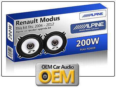 Renault Modus Rear Door speakers Alpine 13cm 5.25