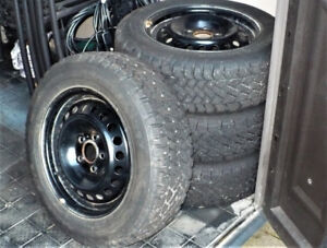 Set of Winter Snow Tires and Rims P195/65R15 5x108 bolt pattern