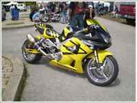 extremely clean customized Honda CBR 929RR