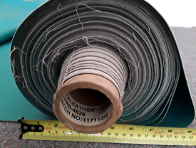 29 Metre Roll of E-Leather Material in Green