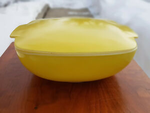 Vintage Yellow Pyrex Hostess Casserole with Lid 1950's