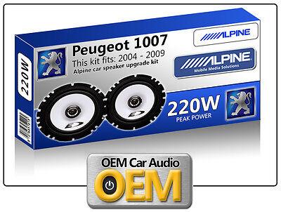 Peugeot 1007 Front Door speakers kit Alpine car speakers 220W Max