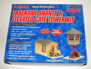 O Scale Atlas Trackside Shanty & Elevated Gate Tower Kit #6903