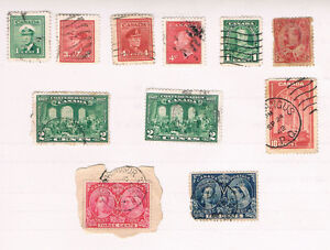 Old Canada Postage Stamps incl/ 1897 Queen Victoria Diamond Jub.