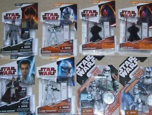 STAR WARS LOT OF 8 FIGURES LEGACY COLLECTION SAGA LEGENDS  2007-