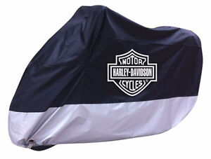 grey and black harley davidson cover.