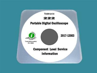 Tektronix 222 Digital Oscilloscope Component Level Service Information Manual