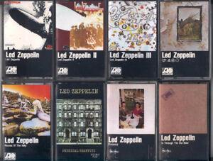 Led Zeppelin - 8 cassettes audio originales - ROCK BLUES PSY