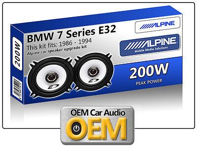 BMW 7 E32 Series Kick Panel speakers Alpine 13cm 5.25