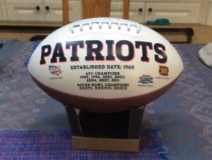 New England Patriots Fans! Autographed Football