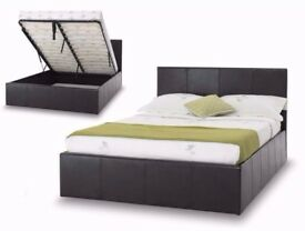 ★★PAY ON DELIVERY ★★ DOUBLE OTTOMAN STORAGE LEATHER BED FRAME WITH MATTRESS -- ''DISCOUNT OFFER''