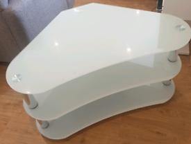 Glass TV corner cabinet