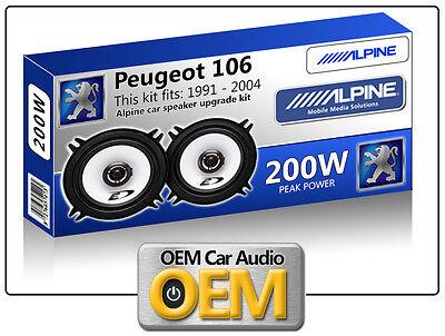 Peugeot 106 Rear Door speakers Alpine 13cm 5.25