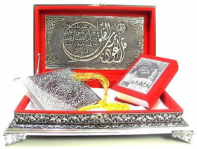Koran Quran Truhe Rot+Gebetskette+CD+Tesbih *Islam hijab Muslim Abaya Takschita*