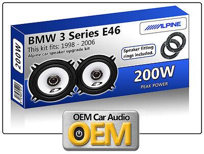 BMW 3 Series E46 Front Door speakers Alpine 13cm 5.25