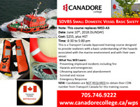 SDVBS Small Domestic Vessel Basic Safety, Parry Sound