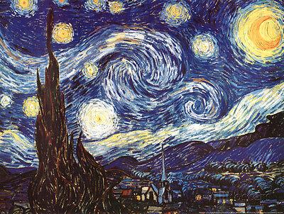 Vincent Van Gogh The Starry Night Art Print Poster Poster Print, 32x24