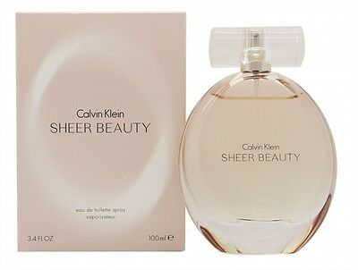 CALVIN KLEIN SHEER BEAUTY EAU DE TOILETTE 100ML SPRAY - WOMEN'S FOR HER. NEW