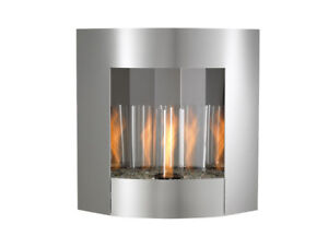 Stainless Steel Gel Fuel Wall Mounted Fireplace