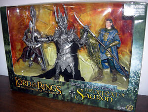 figurines lords of the rings
