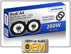 Audi A4 Front Door speakers Alpine 13cm 5.25