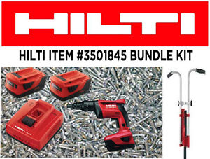 Hilti ST 1800-A18 Bundle screwdriver+batteries+15000 screws +sta