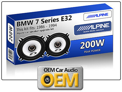 BMW 7 E32 Rear Side Panel speakers Alpine 13cm 5.25