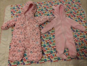 Emma jack 3 month snow suit/ 3 month fuzzy onsie