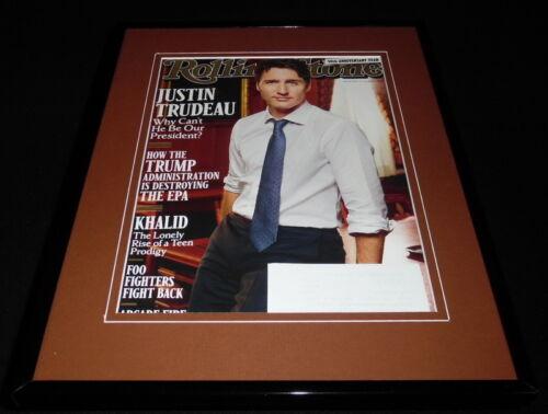 Justin Trudeau Framed 11x14 ORIGINAL 2017 Rolling Stone Magazine Cover