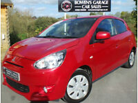 2014 (63) MITSUBISHI MIRAGE '2' 1.2 5DR - FREE ROAD TAX - 2 OWNERS - LOW MILES