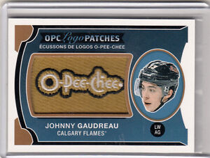 2015-16 opc logo patches # p-58 johnny gaudreau