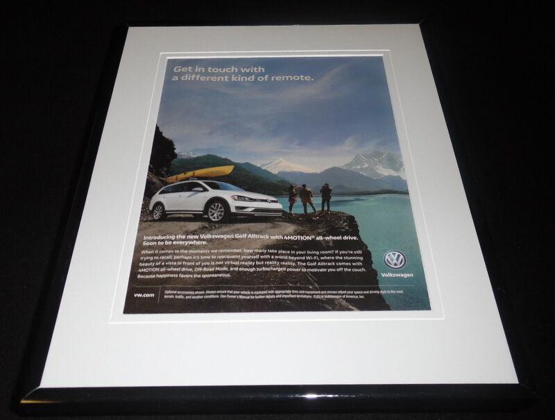 2016 Volkswagen VW Golf Alltrack Framed 11x14 ORIGINAL Advertisement