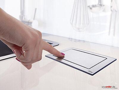 EVOline Backflip drehbare Steckdose Edelstahl mit USB Charger Küche Schreibtisch