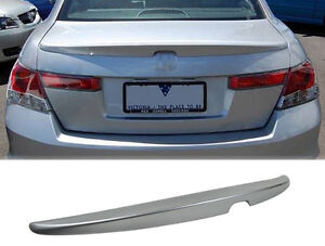 2008 - 12 Honda Accord OE Style Trunk Spoiler Painted Silver
