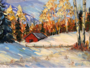 Warm Winter Light  Professional painting Artwork