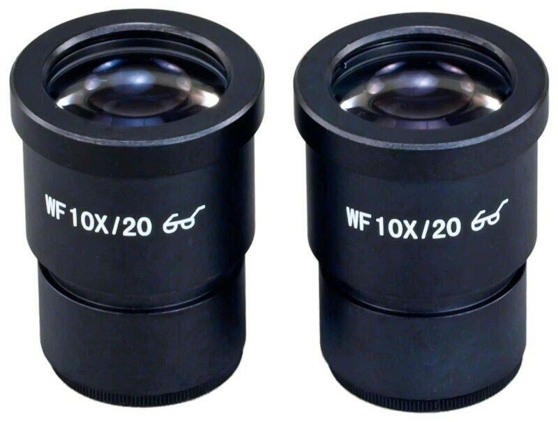 Two WF10X/20 High Eye-point Widefield Eyepieces 30mm for Stereo Microscopes